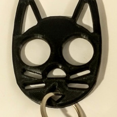 Picture of print of Black Cat self defense keychain