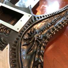 Picture of print of HR Giger Guitar