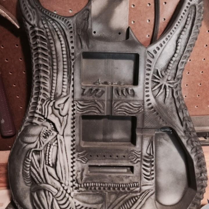 Picture of print of HR Giger Guitar This print has been uploaded by Christopher Meyer