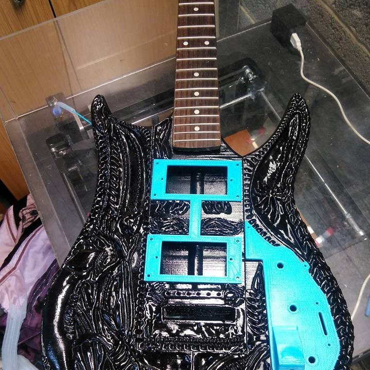 Picture of print of HR Giger Guitar This print has been uploaded by Paul Elliott