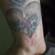 Picture of print of Skull Heart Pendant