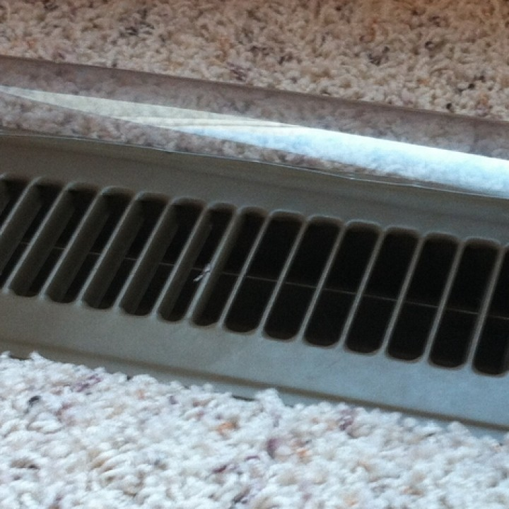Customizable forced air vent deflector