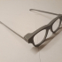 Glasses Frames with bendable arms print image