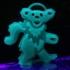 Dead Dancing Bear Ornament print image