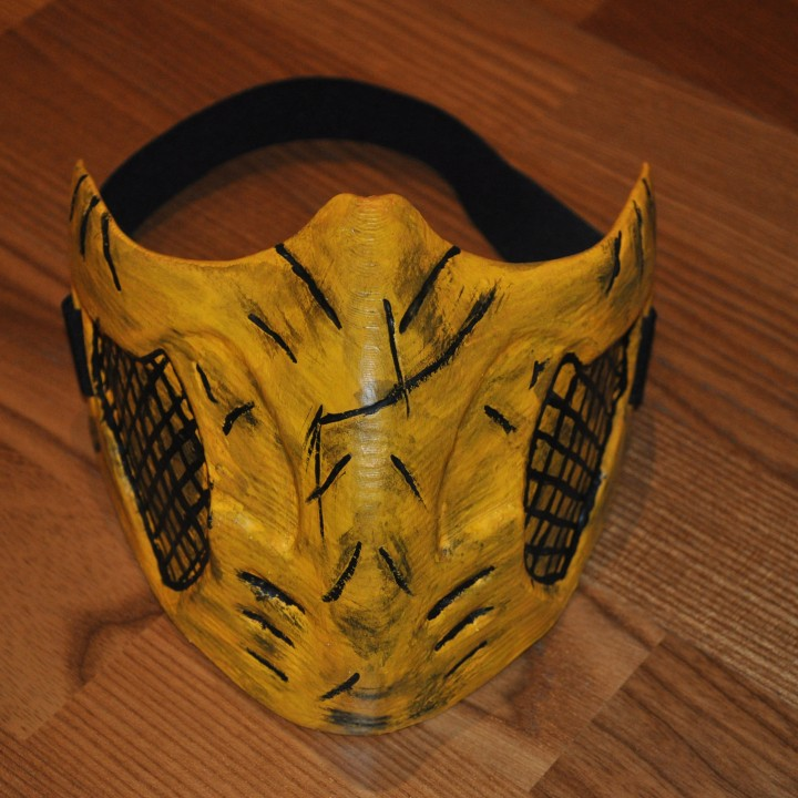 3d Printable Mortal Kombat Scorpion Mask By Designed By