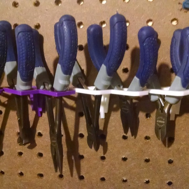Peg Board Tool Holder for small Pliers & Cutters