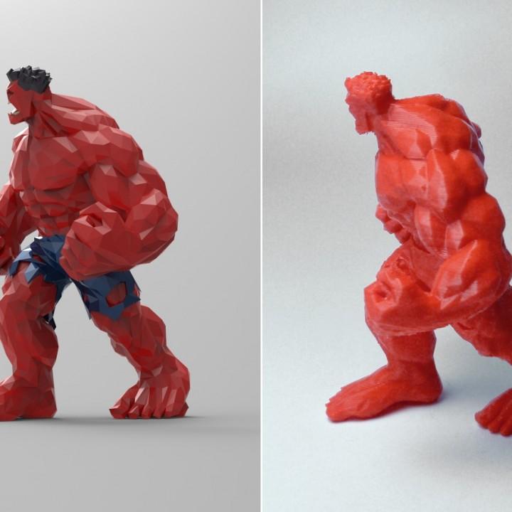 Red Hulk - Low Detail Series