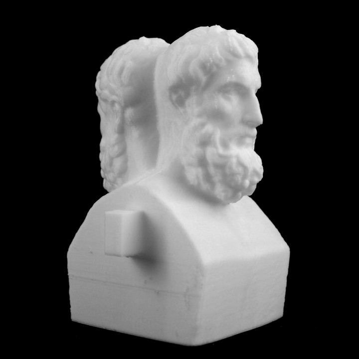 3D Printable Head of Métrodore and Epicure at the Louvre