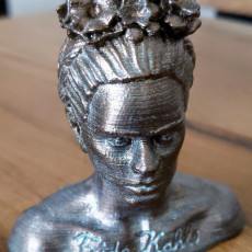 Picture of print of Frida Kahlo Bust