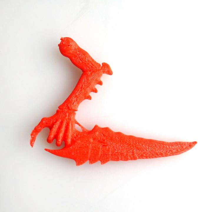 3D Printable Wargame Alien Claw, Warhammer 40K Tyranid inspiration
