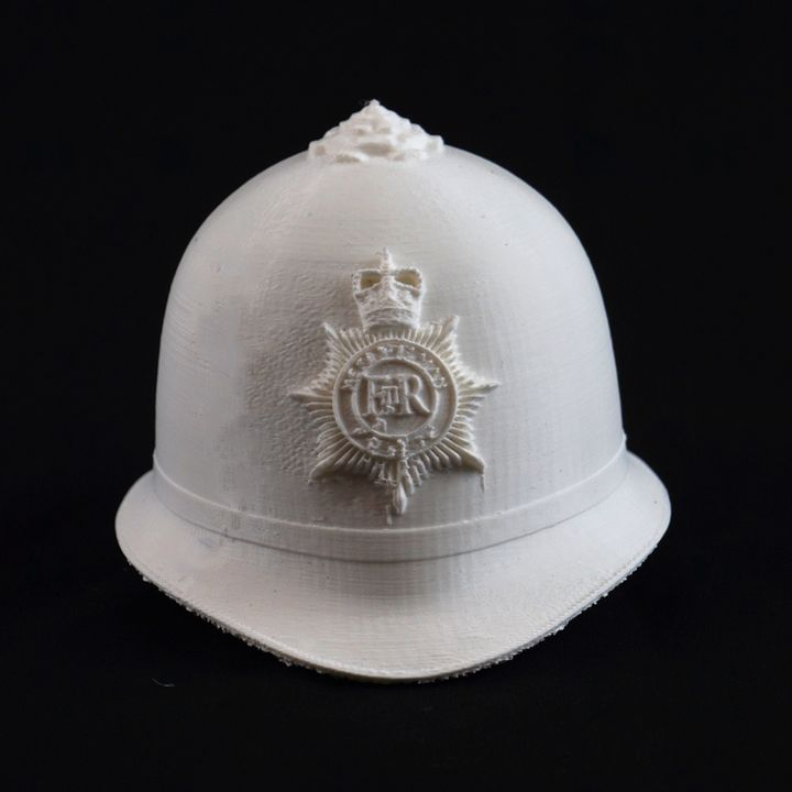 image regarding Printable Police Hat referred to as 3D Printable London law enforcement hat by means of Frederico David Sena