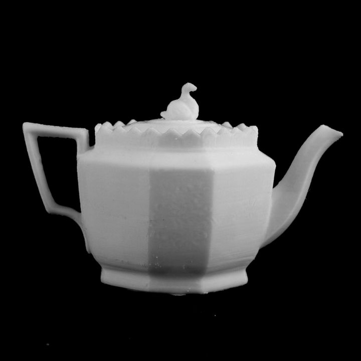Teapot at Cardiff Museum, Wales