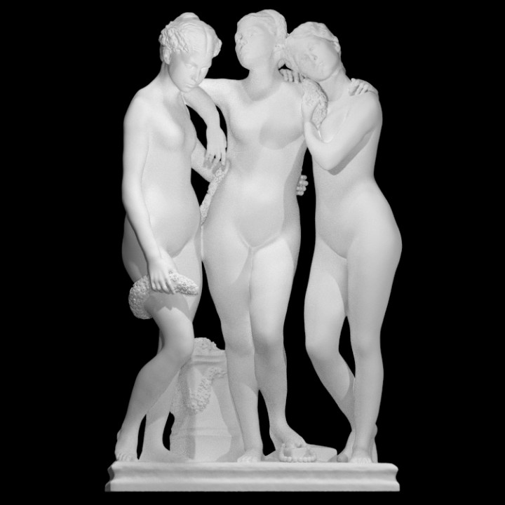 The Three Graces at The Louvre, Paris