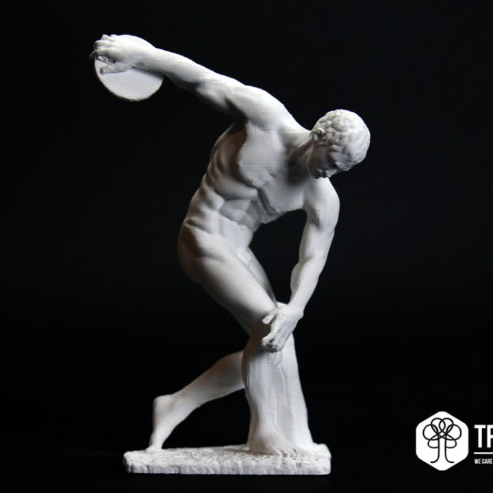 Picture of print of Discobolus at The British Museum, London Questa stampa è stata caricata da TreeD Filaments