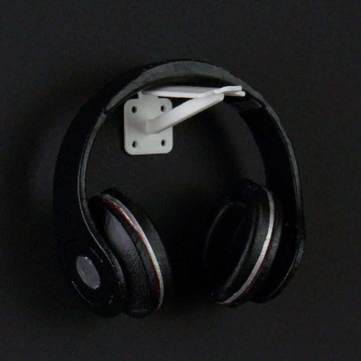3d printable wall mounted headphone holder by sebastian liebhart - Wall mount headphone holder ...