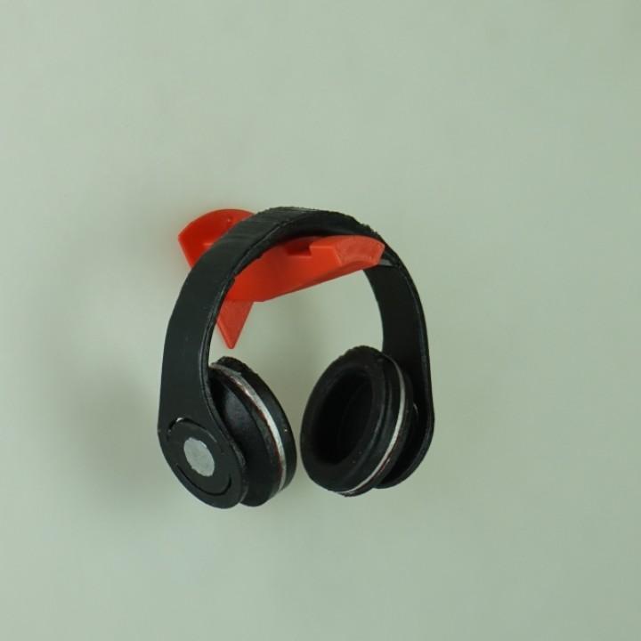 3d printable wedge wall mounted headphone holder by anthony gomez - Wall mount headphone holder ...