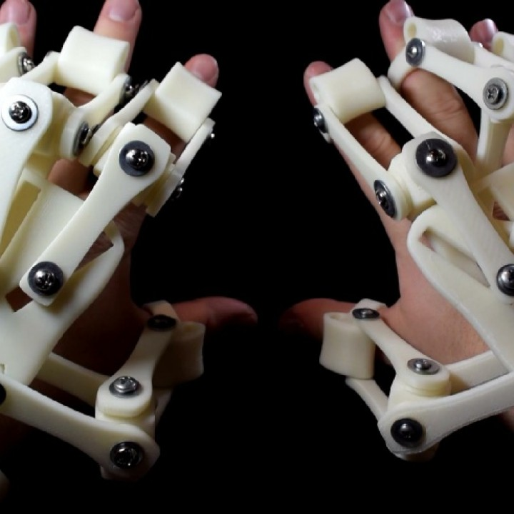 3D Printed Exoskeleton (Index Finger + Attachments)