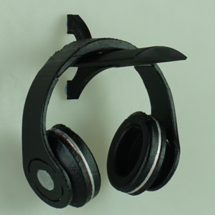 3d printable wall mount headphone stand by garrett manley - Wall mount headphone holder ...