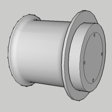 Picture of print of Cylinder Tube Wall+Desk Mounting headphone stand