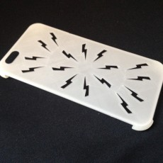 Picture of print of Spies and Assassins Lightening bolt iPhone 6 case