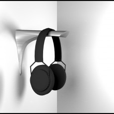 Picture of print of Clean and Modern Wallmounted Headphone Stand