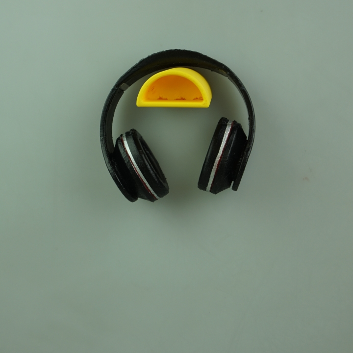 3d printable contemporary wall mount headphone holder by alex t - Wall mount headphone holder ...