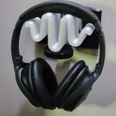 Picture of print of SinE - Headphone wall mount with soundwave design