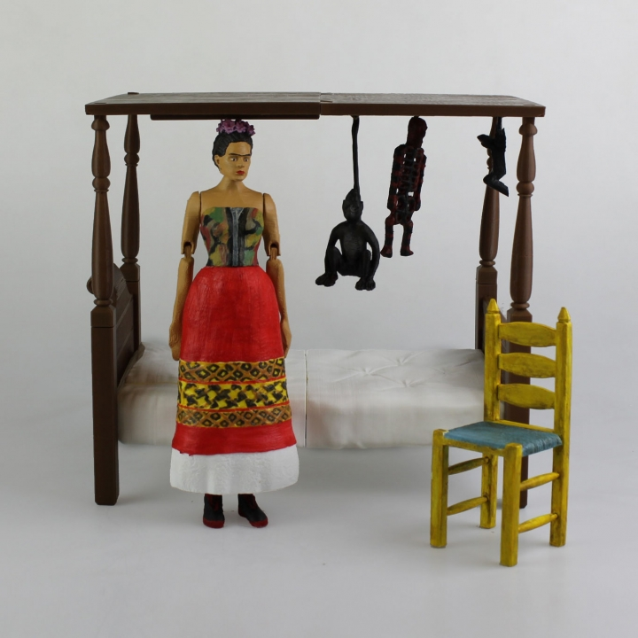 Frida Kahlo - Articulated Figure - Support Free