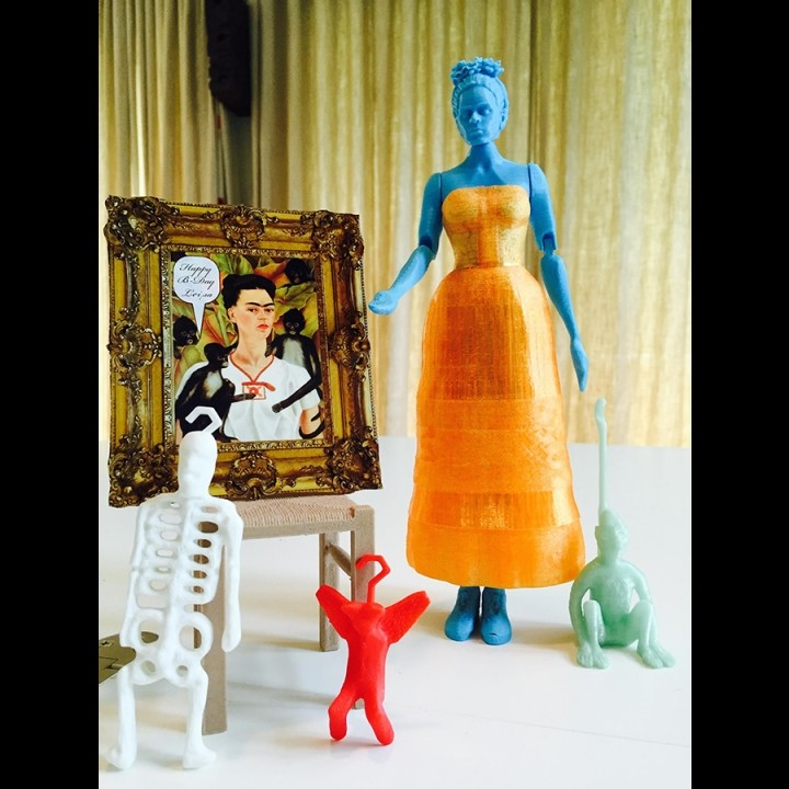 Picture of print of Frida Kahlo - Articulated Figure - Support Free This print has been uploaded by Evavooo
