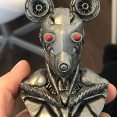 Picture of print of cyberpunk Mickey Mouse