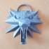 The Witcher 3 - Wolf Head Talisman print image
