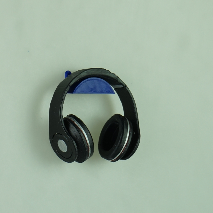 3d printable wall mounted headphone holder by jake c - Wall mount headphone holder ...