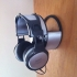 "Wall headphone Stand Model ""Circular A"" For 1-2 Headphones with cable organizer or container. print image"