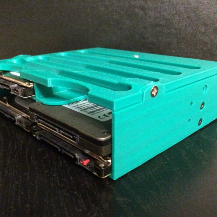 """6 x 2.5"""" Drive to one 5.25 Optical Drive Bay Adapter."""