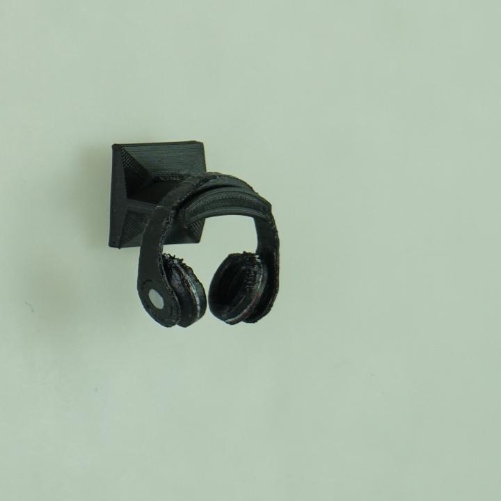 3d printable wall mounted headphone holder ltt contest by david zhong - Wall mount headphone holder ...