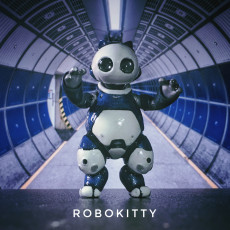 Picture of print of robot kitty