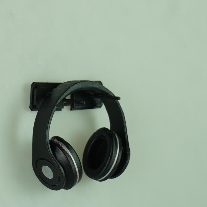 3d printable wall mounted headphone holder by henrik thegen jakobsgaard - Wall mount headphone holder ...