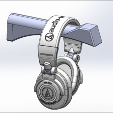 Picture of print of Headphone Stand, by Givingtnt : hidden screw, 2 piece design.