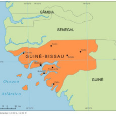 Picture of print of Map of Bissau Guinea