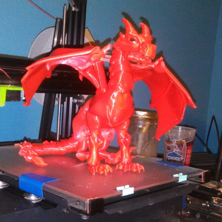 """Picture of print of """"Braq"""" jointed dragon This print has been uploaded by xander brown"""