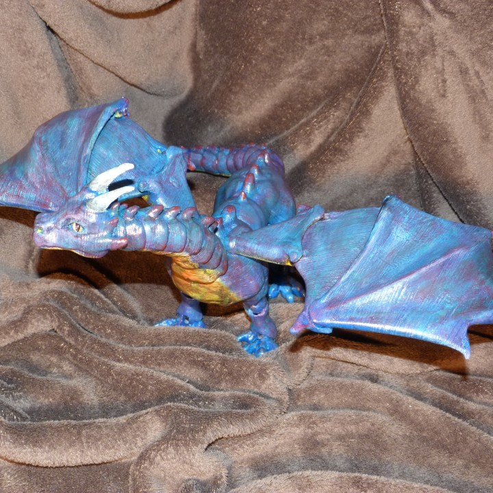 """Picture of print of """"Braq"""" jointed dragon This print has been uploaded by Peter De Corte"""