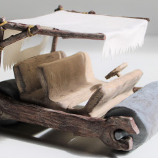 Picture of print of Flintstone Car - Moving Wheels