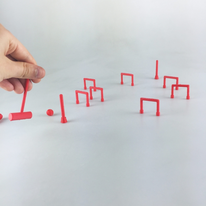 3d Printable Desktop Croquet By Simone Fontana