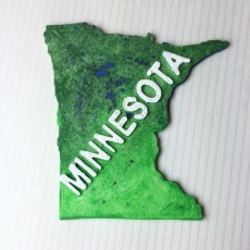 Picture of print of Map of Minnesota