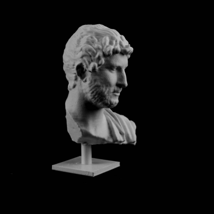 Marble bust of Hadrian at the MET, New York