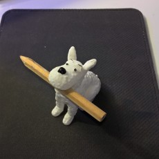 Picture of print of Snowy  Milou Wacom pen holder