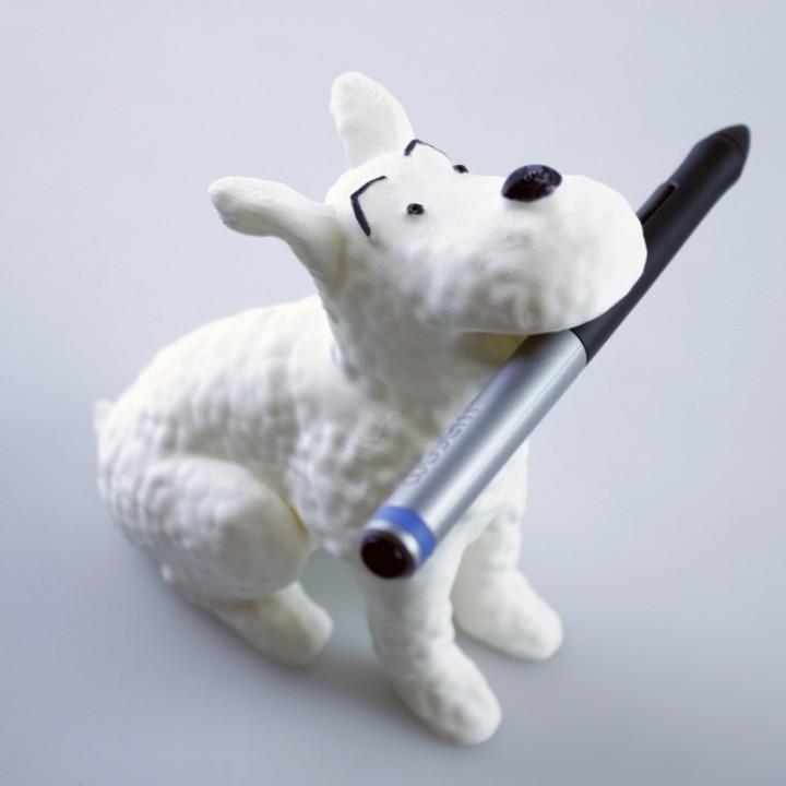 Snowy  Milou Wacom pen holder