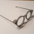 Glasses Frames with bendable arms - Round Frames print image