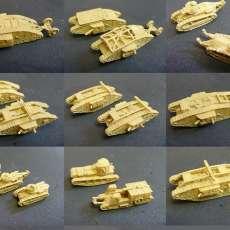 1:200 WWI Tanks
