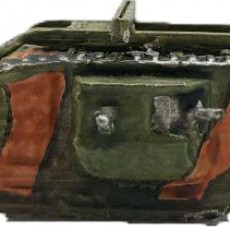 Picture of print of 1:200 WWI Tanks
